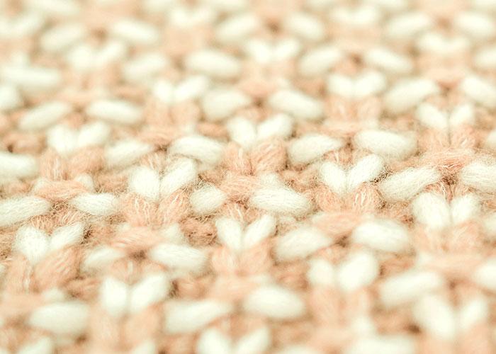 Dettaglio lavorazione a maglia